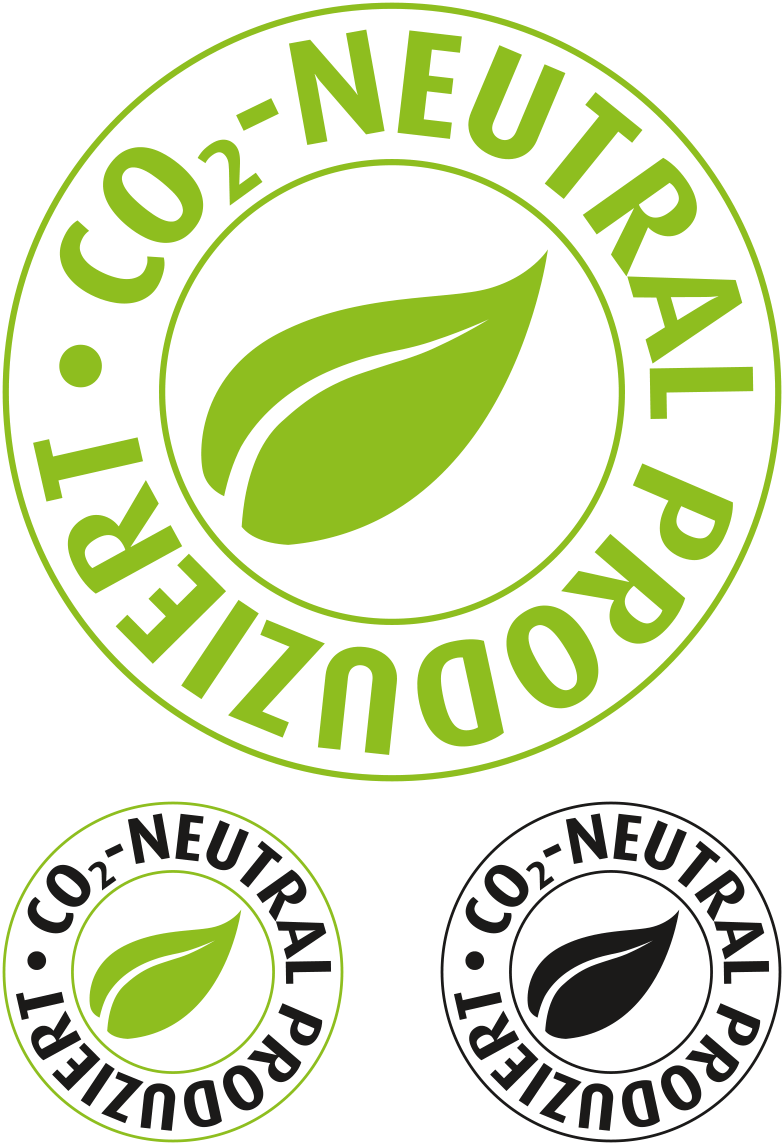 PPS Plastikkarten Logo CO2-neutral